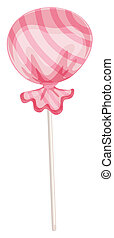 a candy - illustration of a sweet candy on a white...