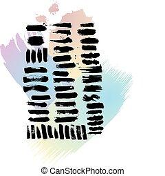 a, caneta, brushes(vector)