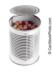 a canned of assorted beans