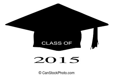 Class of 2015 - A cap with the legend Class of 2015 over a...