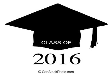 Class of 2016 - A cap with the legend Class of 2016 over a...