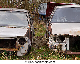 rusted carwrecks