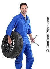 A car mechanic