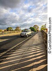 A car on the bridge, street of Richmond, London, England, UK