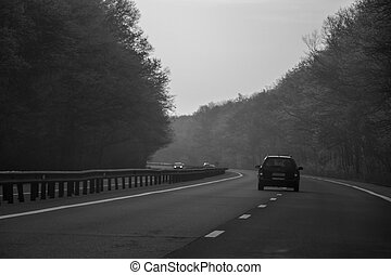 A car on the highway