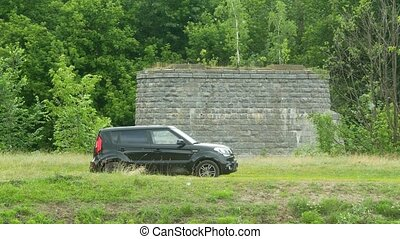 a car standing in the nature