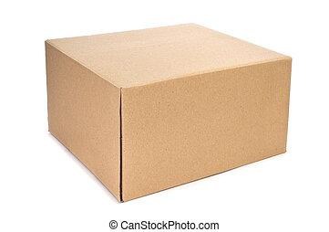 cardboard box - a cardboard box on a white background