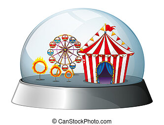 A carnival inside a dome