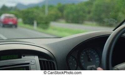 A car's clean dashboard - A close up shot of a car's...