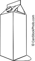a carton of milk contour vector illustration