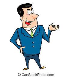cartoon business man - a cartoon business man, vector