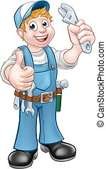 Cartoon Character Mechanic or Plumber
