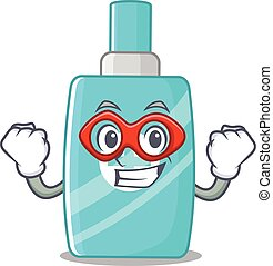 A cartoon character of ointment cream performed as a Super ...