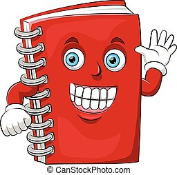 A cartoon happy book with big smile
