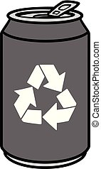 Aluminum Can with a Recycle Symbol