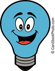 Autism Bulb Mascot - A cartoon illustration of a Autism Bulb...