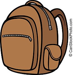 Backpack - A cartoon illustration of a Backpack.