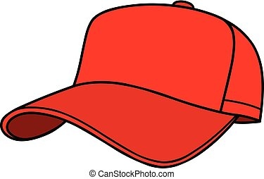 Baseball Cap - A cartoon illustration of a Baseball Cap.