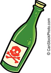 Poison - A cartoon illustration of a bottle of Poison.