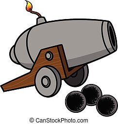 A cartoon illustration of a Cannon.