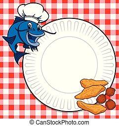 Catfish Cookout - A cartoon illustration of a Catfish ...
