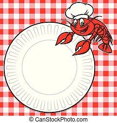 Crawfish Cookout - A cartoon illustration of a Crawfish ...