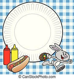 Easter Cookout - A cartoon illustration of a Easter Cookout ...