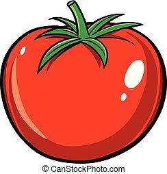 A cartoon illustration of a garden Tomato.