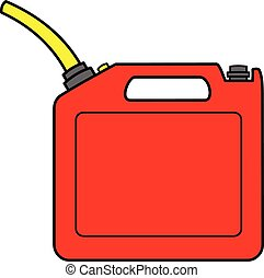 A cartoon illustration of a Gasoline Can.