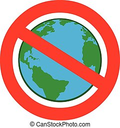 A cartoon illustration of a Globalism Ban.