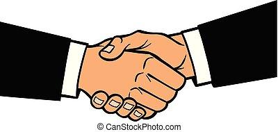 Handshake - A cartoon illustration of a Handshake concept.