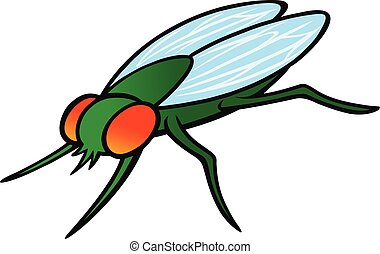 A cartoon illustration of a Housefly.