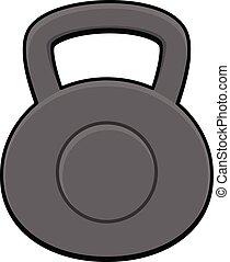 Kettlebell - A cartoon illustration of a Kettlebell weight.