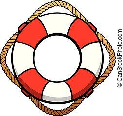 Lifebuoy - A cartoon illustration of a Lifebuoy.