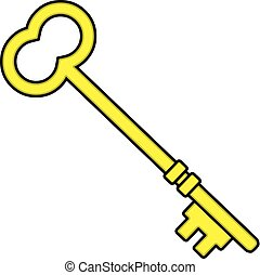 Locksmith Key - A cartoon illustration of a Locksmith Key.