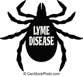 A cartoon illustration of a Lyme Disease sign.