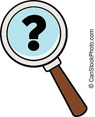 Magnifying Glass with a Question Mark