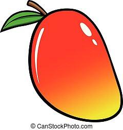 Mango - A cartoon illustration of a Mango.