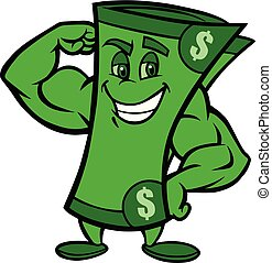 Mighty Greenback - A cartoon illustration of a Mighty ...