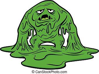 A cartoon illustration of a Mucus Monster.