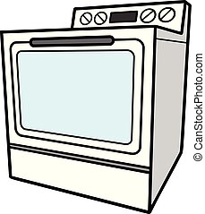 Oven - A cartoon illustration of a Oven.