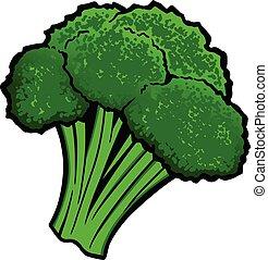 Broccoli - A cartoon illustration of a piece of Broccoli.