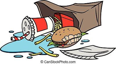 Litter - A cartoon illustration of a pile of Litter.