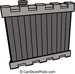 Radiator - A cartoon illustration of a Radiator.