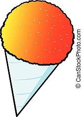 A cartoon illustration of a Snow Cone.