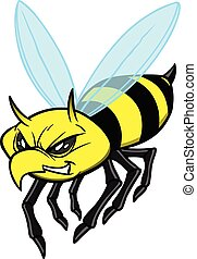 A cartoon illustration of a Yellow Jacket.
