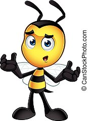 Little Bee Character - A cartoon illustration of an cute ...