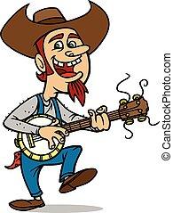 A cartoon illustration of Bluegrass Bill.
