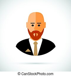 A cartoon illustration of businessman