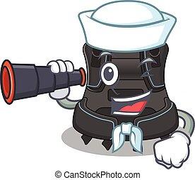 A cartoon image design of scuba buoyancy compensator Sailor ...